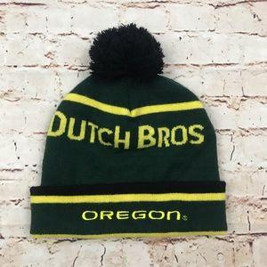 Dutch Bros Oregon Ducks Beanie U of O Green Yellow